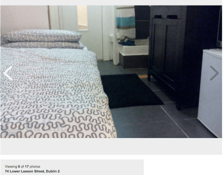 If we feck a bed into the bathroom we can squeeze €800 out of some poor bollix.