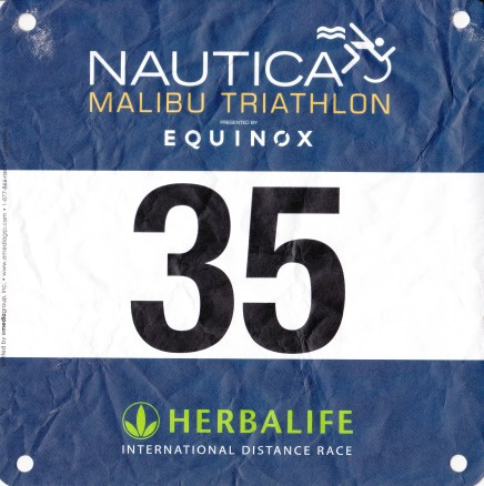 Nautica Malibu Tri race bib