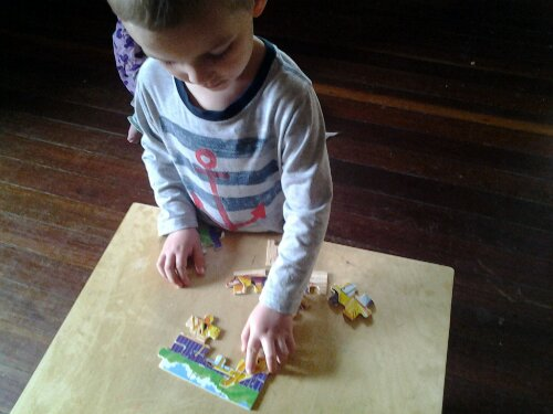 Melissa and Doug construction jigsaw puzzles