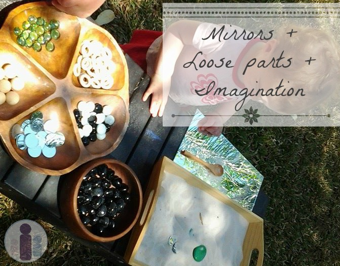 mirrors loose parts imagination and play reggio
