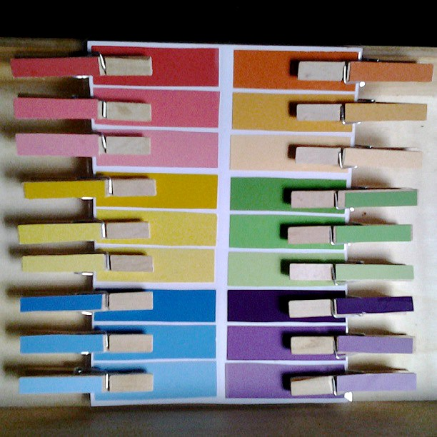 diy montessori colour gradient activity
