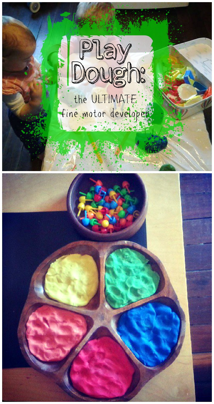DIY Play dough Montessori activities for fine motor skills