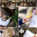 Sensory Nature Scavenger Hunt with free printable Racheous - Lovable Learning