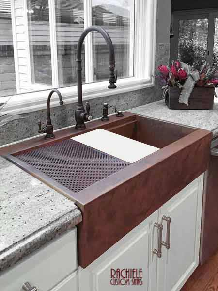 Beautiful Copper Farmhouse Sinks Stainless Steel Appliances This Is Not A Havensmetal Works Copper Sink Copper Farm Sinks Sale Copper Farmhouse Sink Custom Made houzz 01 Copper Farmhouse Sink