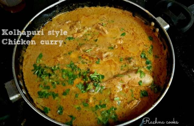 kolhapuri style chicken curry