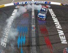 2012 New Hampshire July NASCAR Sprint Cup Kasey Kahne burnout
