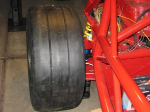 Rear tire, with spacer