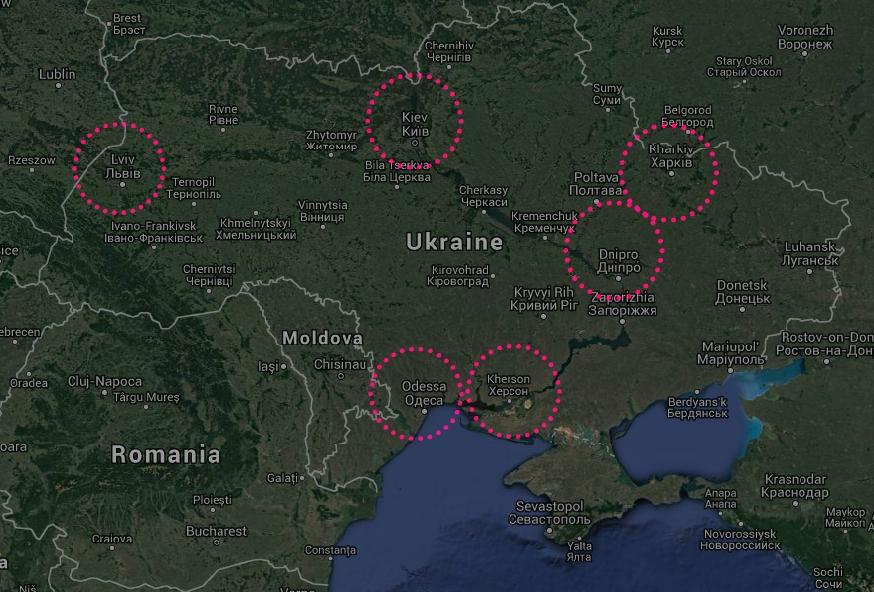 ukraine map eurovision 2017