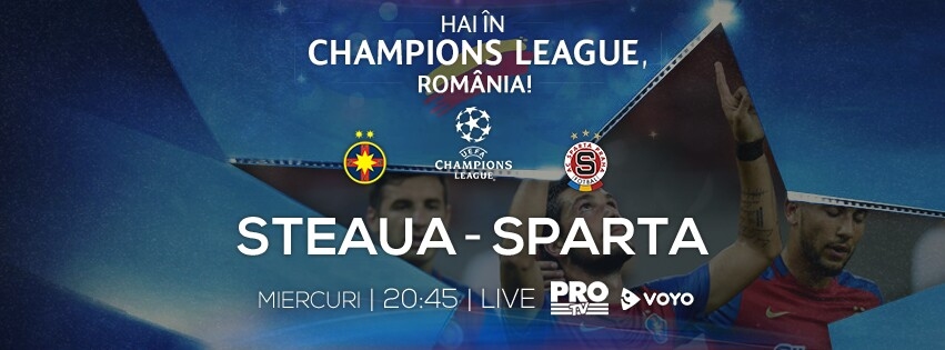meciul Steaua - Sparta Praga