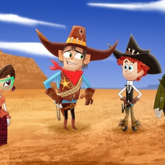"PENN ZERO: PART-TIME HERO - ""Old Old West"" - ""Penn Zero: Part-Time Hero,"" an animated comedy adventure series about Penn Zero, a regular boy who inherits the not-so-regular job of part-time hero, is set for a simulcast premiere FRIDAY, FEBRUARY 13 (9:45 p.m., ET/PT) on Disney XD and Disney Channel, with three additional episodes premiering over the holiday weekend on Disney XD. (Disney XD) SASHI, SHERIFF SCALEY BRIGGS, PENN, BOONE"