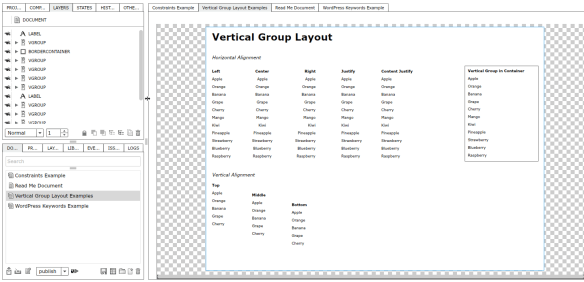 Vertical Group Example