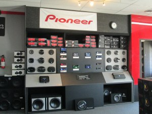 Pioneer audio and video component display at Radioactive