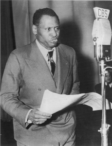 Robeson during CBS bcast
