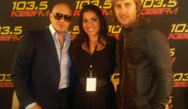 Nina Chantele Pitbull and David Guetta