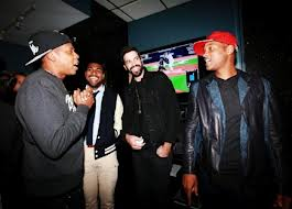 Meek Mills Listening Jay Z, Will Smith, & Rick Ross Give Meek Mill a Listen at Electric Lady Studios