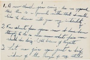 Martin Luther King Jrs Handwritten Notes up for Auction
