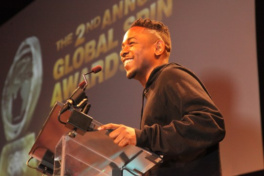 009 Kendrick Lamar 600x400 Kendrick Lamar , Busta Rhymes and More Celebrate Global Spin Awards (PICS)