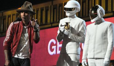 GTY daft punk jef 140126 16x9 992 Columbia Records Congratulates Daft Punk, Pharrell Williams, Adele and The Civil Wars for Their Wins
