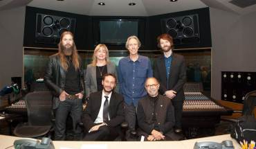 Pictured L-R: Barak Moffitt, global head of strategic operations, Universal Music Group; Maureen Droney, Managing Director P&E Wing; Ryan Ulyate, Producer/Engineer; John Jackson; VP A&R/content development, Sony Music Legacy Recordings; Eric Boulanger, Chief Mastering Engineer, The Mastering Lab; and Bruce Botnick; VP, Content Acquisition, Pono Music. Photograph courtesy of The Recording Academy®. © 2015.