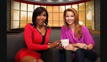 "Ebony Steele and Sasha Rionda, co-hosts of ""Coffee with America"" TV show (PRNewsFoto/Ben Garrett Group, LLC)"