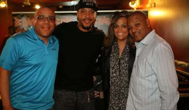 Pictured here (L to R) WBLS Program Director, Skip Dillard; Artist, Lyfe Jennings; Manager, Shante Paige; RED Associated Labels SVP, Urban Promotion, Richard Nash