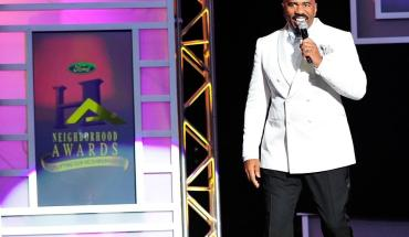 ATLANTA, GA - AUGUST 09:  Steve Harvey speaks onstage at the 2014 Ford Neighborhood Awards Hosted By Steve Harvey at Georgia World Congress Center on August 9, 2014 in Atlanta, Georgia.  (Photo by Moses Robinson/Getty Images for Ford Neighborhood Awards)