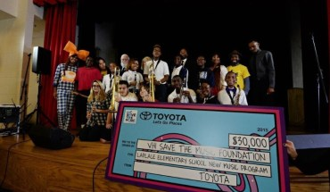 Santigold Partners with Toyota and VH1 Save The Music to Present New Orleans Area School with Music Education Grant (PRNewsFoto/Toyota)