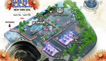 5th Annual Electric Daisy Carnival NY Festival Map (PRNewsFoto/Insomniac)