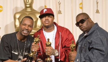78th Academy Awards (ABC) March 5, 2006 Kodak Theatre, Hollywood Shown backstage from left: Best Original Song winners Jordan Houston, Paul Beauregard, Cedric Coleman aka Three 6 Mafia (for Hustle & Flow)