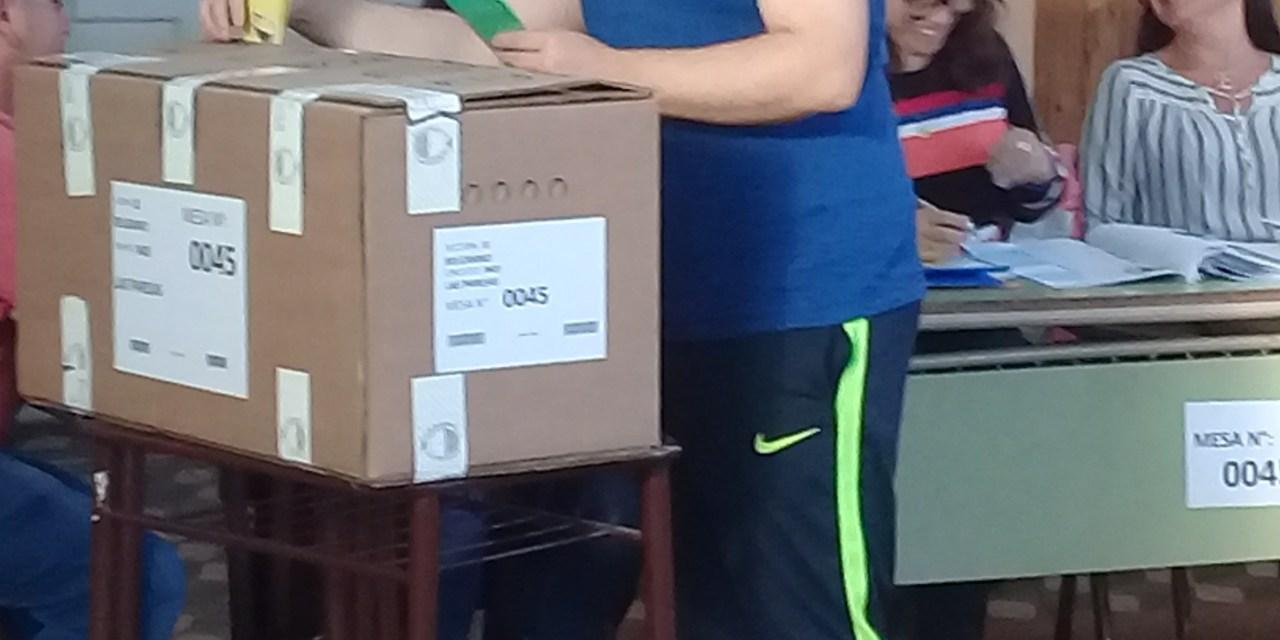 Horacio Compagnucci, el más votado en Las Parejas