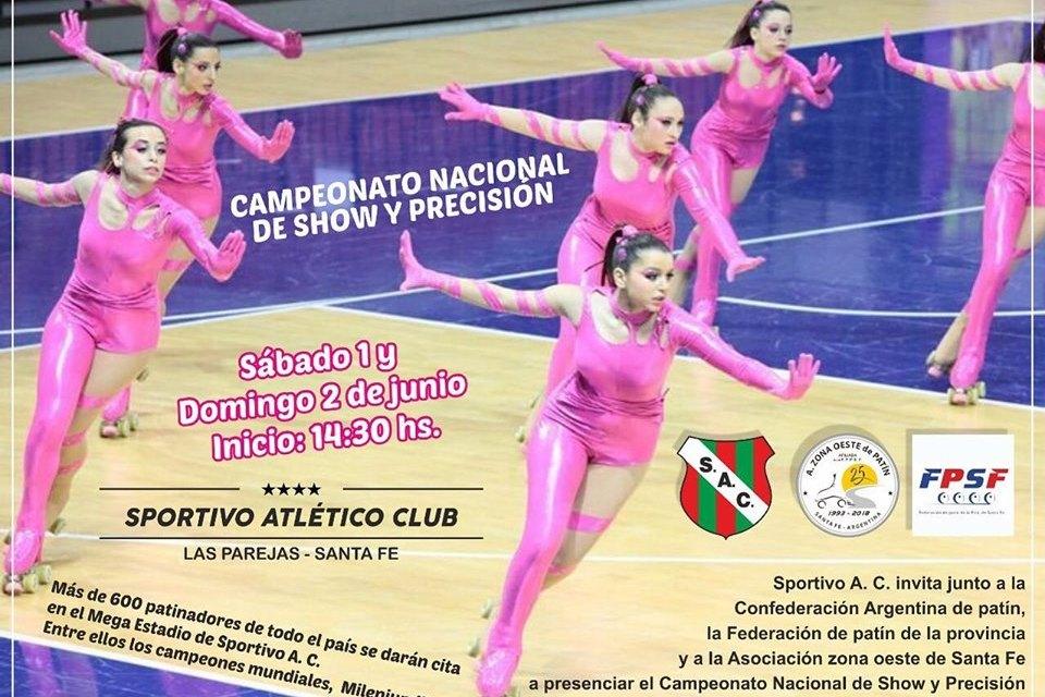 Campeonato nacional de show y precisión de patinaje artístico en Sportivo