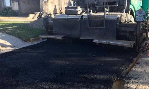 Comenzaron las tareas de pavimentación en Barrio Alborada