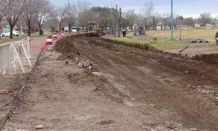 Comenzaron las obras de pavimentación en Avda 18