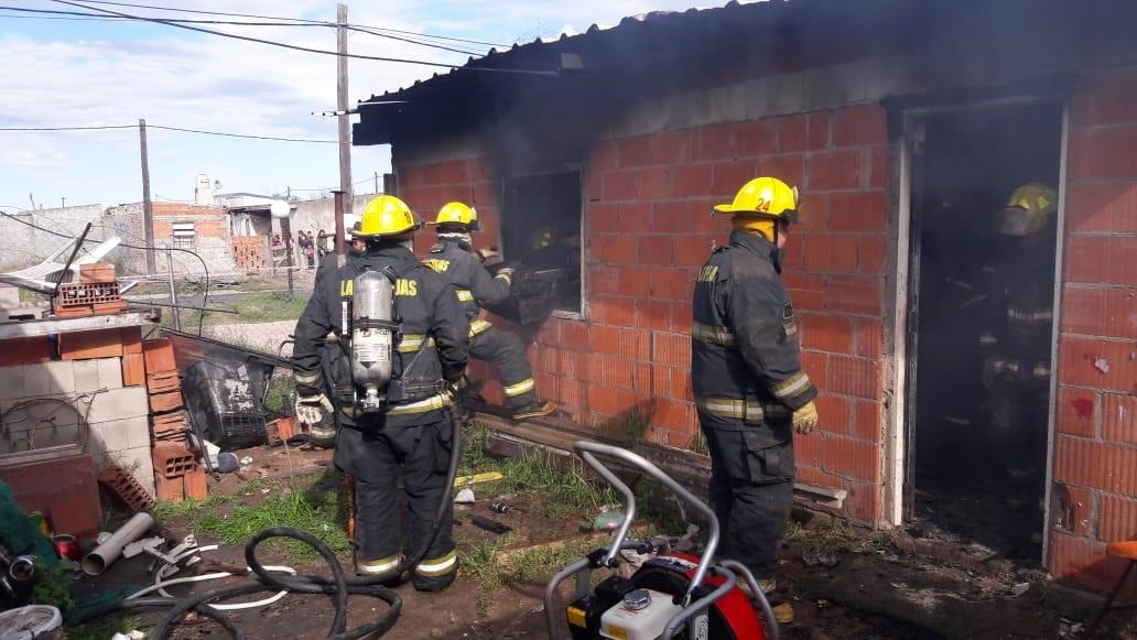 Perdidas totales en un incendio de una vivienda