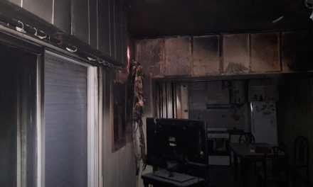 Incendio en una vivienda durante la madrugada