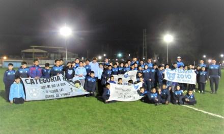 Iluminación Led en la cancha de fútbol infantil de Argentino