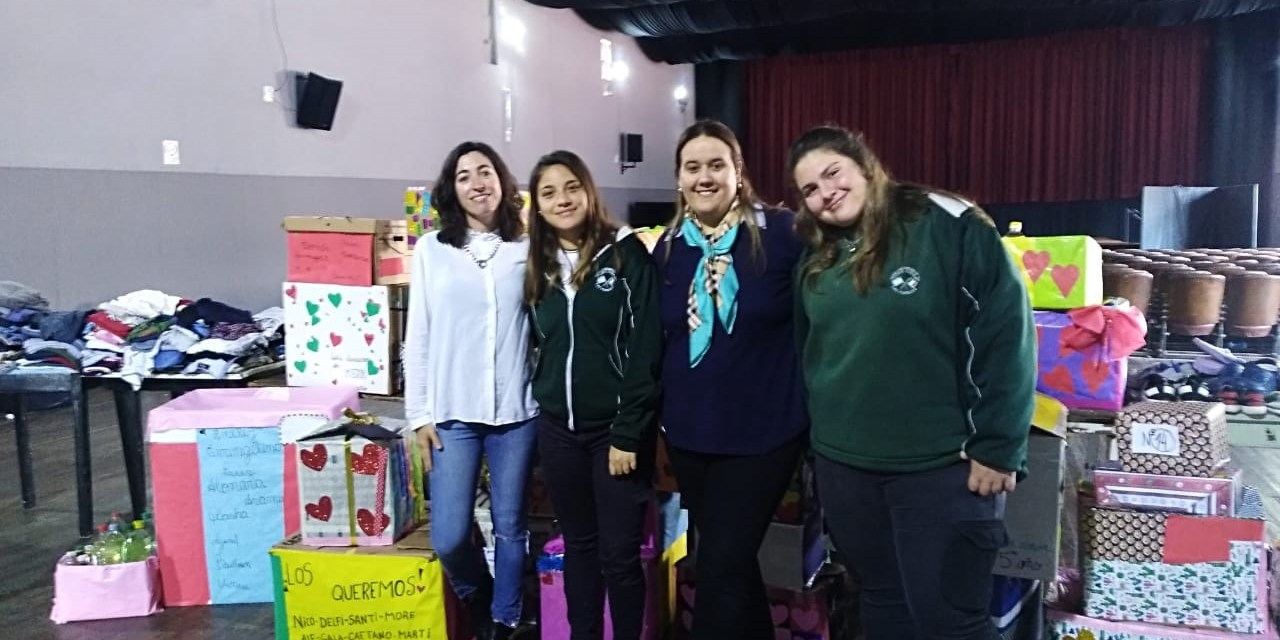 16 familias beneficiadas con el Proyecto Solidario de los alumnos de la Dante Alighieri