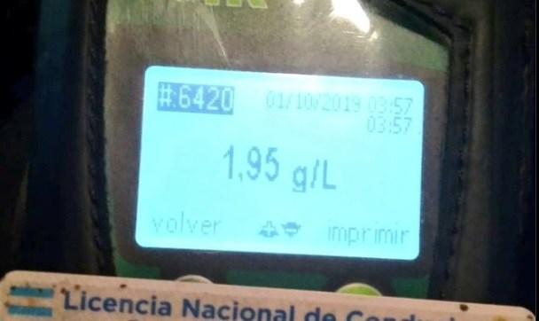 Camionero manejaba con 1.95 gramos de alcohol en sangre