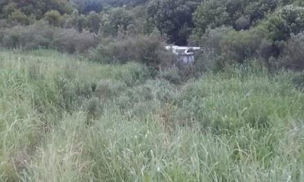 Vuelco de un vehículo en ruta 178