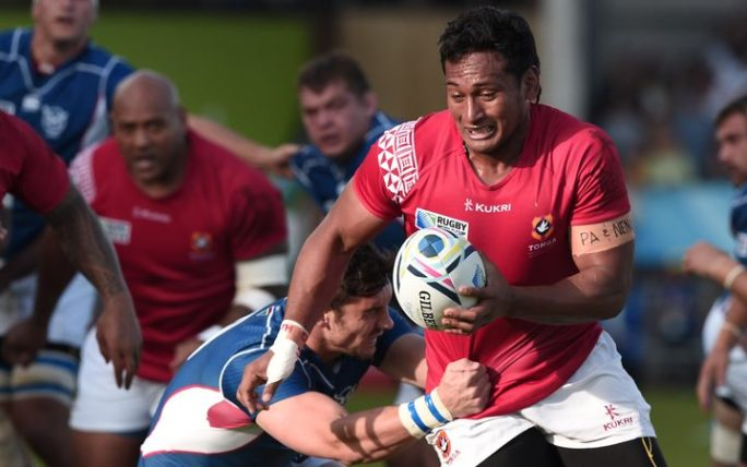 Tonga's Jack Ram during the 2015 Rugby World Cup.