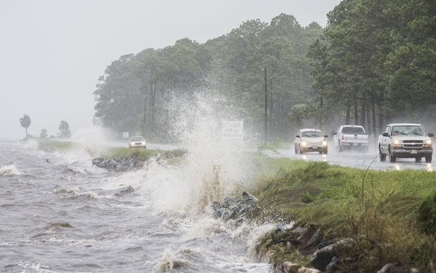 US 98 in Eastpoint, Florida, as Hurricane Hermine approaches on Thursday.