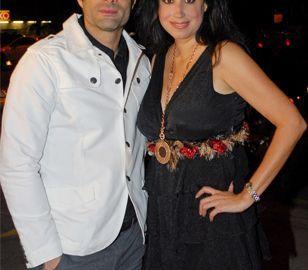 La Publirrelacionista Norah Còrdova con el actor Luis Roberto Guzmán, durante un evento organizado por la también empresaria y diseñadora. ¡Mujer triunfadora!