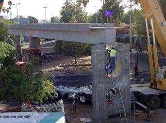 Puente peatonal de la Unison estará listo a finales de mes