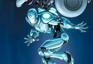 Totalmente metalizado y con destellos de luz, así es la nueva imagen de este superhéroe, tras el que se esconde el millonario playboy Tony Stark