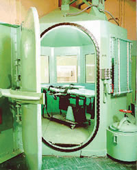 The gas chamber at San Quentin Prison, California.  Source: Gilroy Dispatch