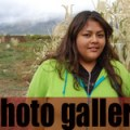 Hillery Duran, Taos Tribal Member and college intern at Red Willow Education Center.  Photo Credit: Rita Daniels