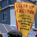 Protesting Chevron refinery expansion in Richmond. Credit: planet a. via Flickr