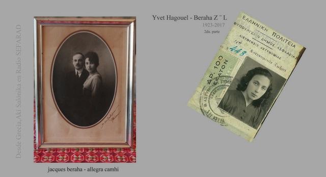 "Yvet Hagouel (Beraha) Z""L (1923 – 2017) (2ª parte)"