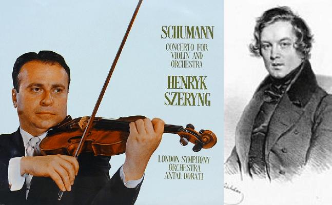 Szeryng, solista bajo Dorati, del Concierto para violín de Schumann