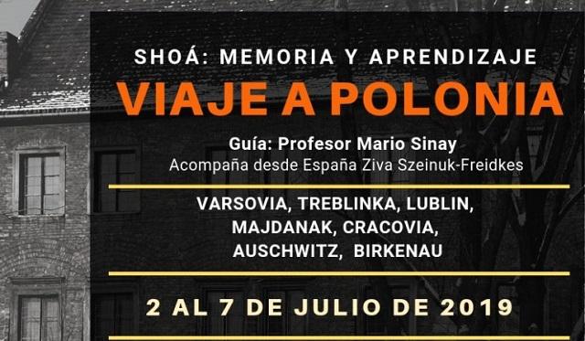 """""""Shoá: memoria y aprendizaje. Viaje a Polonia"""" con Ziva Szeinuk-Freidkes"""